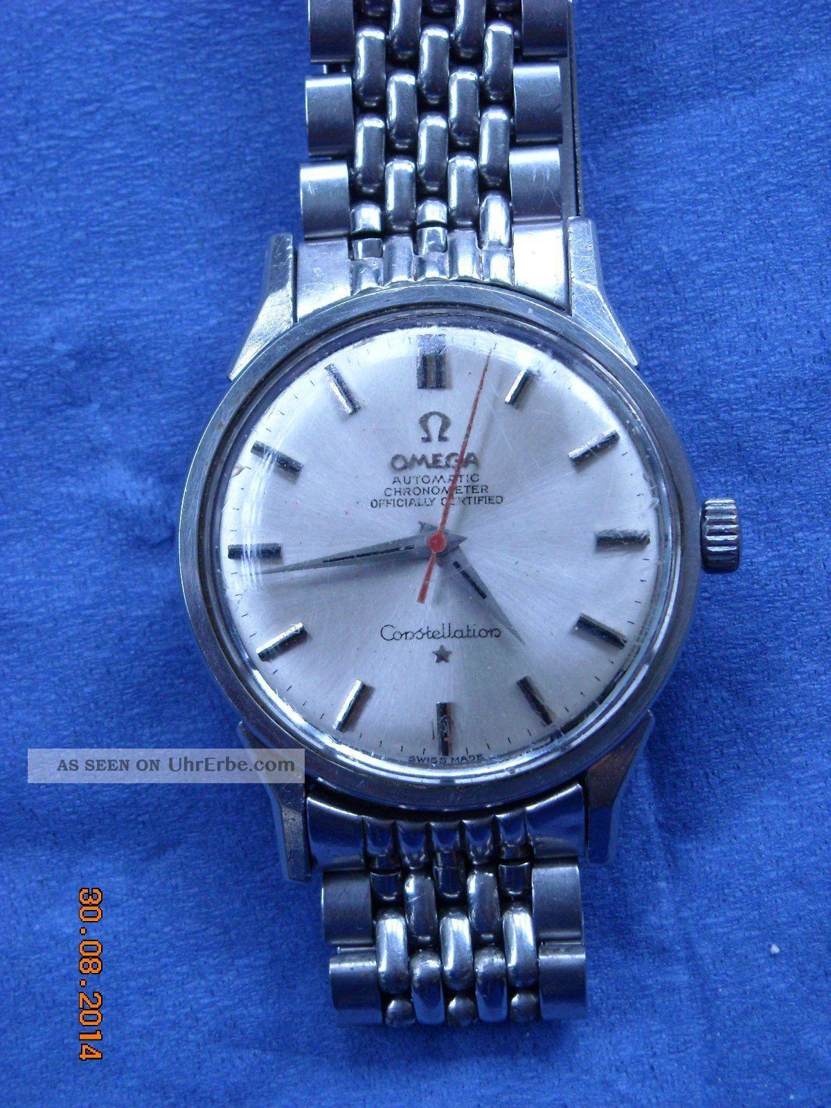Omega Constellation Uhr,  Stahl,  Chronometer,  Automatik Armbanduhren Bild
