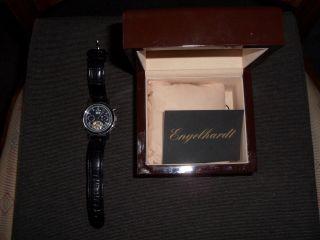 Uhr Herren Automatic Engelhardt Lederarmband Dornschließe Bild