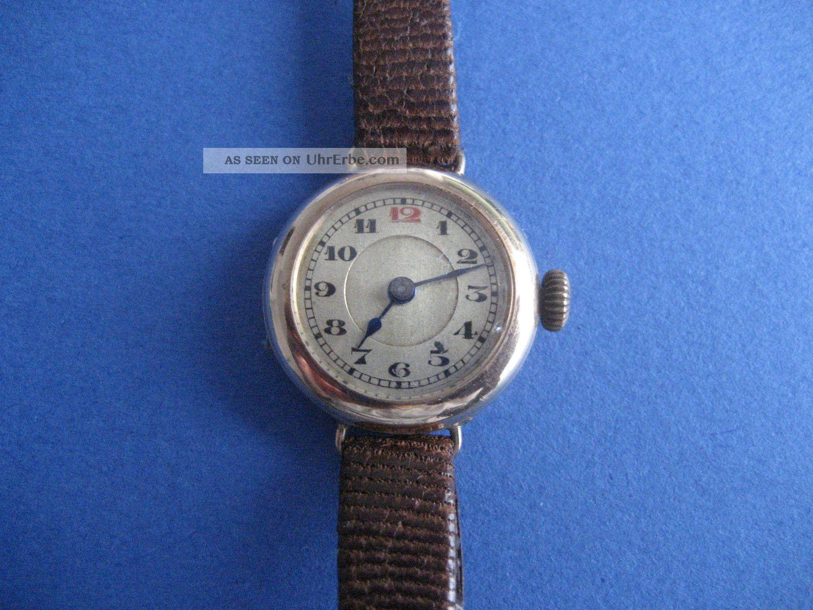 Alte Da.  Armbanduhr,  585 Gold Armbanduhren Bild