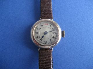 Alte Da.  Armbanduhr,  585 Gold Bild