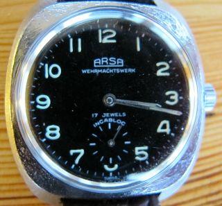 Arsa Wehrmachtswerk Herren Armbanduhr - Handaufzug - 17 Jewels Bild