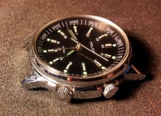 Poljot,  Armbanduhr,  Wecker Mit Mechanichem Werk (2612.  1) Getragen Bild