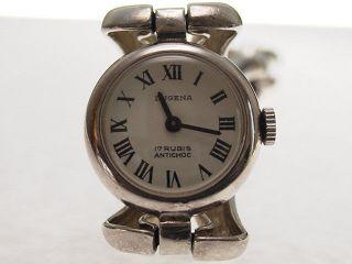 Damen Armbanduhr Dugena 835/ - Silber 1970 Analog Mechanisch Handaufzug Retro Deut Bild