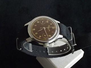 Schöner Wwii Chronometre Swiss Militär Schaltrad Chronograph - Um 1940 Bild