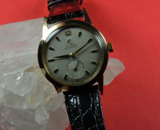 Cyma - Swiss - Made - Herrenuhr In 9 Karat Gold Bild