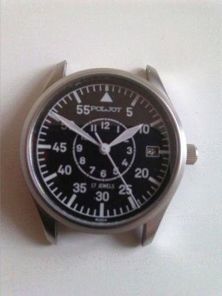 Seltene,  Mechanische Poljot Beobachtungsuhr B - Uhr Fliegeruhr (145/999) Bild