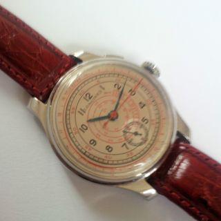Extraordinary Big And Rare Longines Fly Back Flyback Chronograph 12.  68z Bild