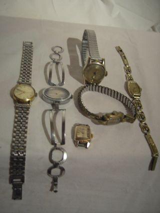 Konvolut Uhren - 6 StÜck - 3 Uhren Ticken Noch - FÜr Ersatzteile - Bastler - Bild