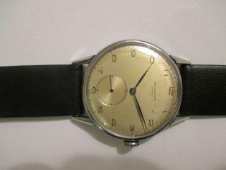 Vintage Universal Geneve Handaufzug Cal.  262 Edelstahl Ca 50 Er Jahre Bild