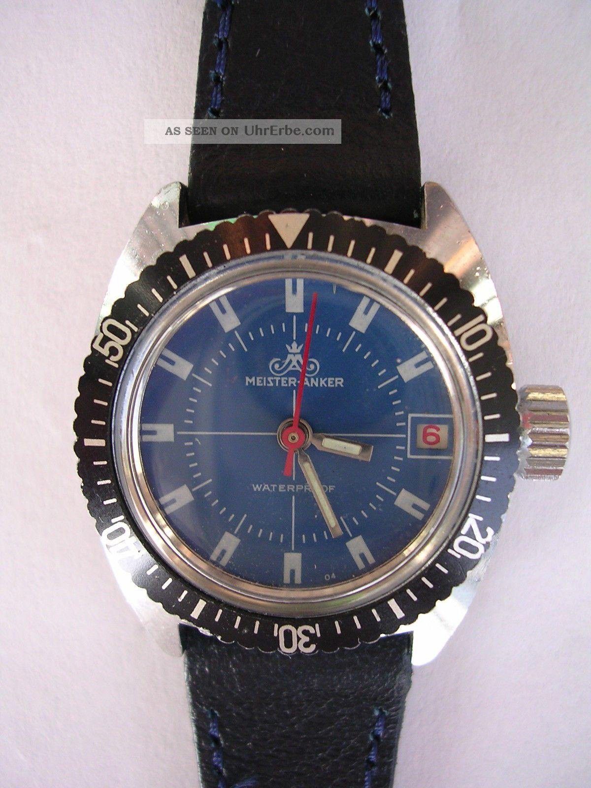 Für Sammler Handaufzug Vintage Damenruhr Meister Anker Dau Diver - Stil Armbanduhren Bild