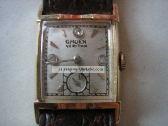 Gruen - Very Thin 14 Karat Armbanduhr,  Diamanten Armbanduhren Bild