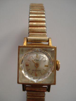 Filigrane Vintage Damenuhr Eppo Incabloc Handaufzug Gold Pl - 20 Microns Bild