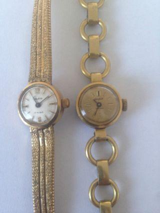 2 Alte Glashütte Damen Armbanduhren Double' Gub Bild