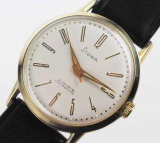 Stowa Fhf 72 Watch Damen Herren Uhr 1950 /60 Handaufzug Lagerware Nos Vintage 80 Bild