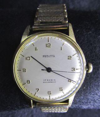 Provita Armbanduhr Handaufzug 17 Rubis Shockproof Bild