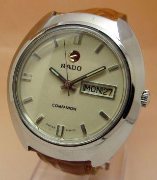 Rado Companion Mechanische Uhr 17 Jewels Datum & Tag Lumi Zeiger Bild