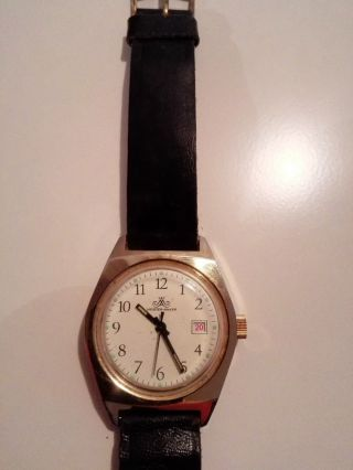 Vintage Meister Anker Vergoldet Herrenuhr Handaufzug Deutsche Made In Germany Bild