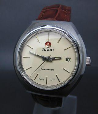 Weiß Rado Companion 17 Jewels Mit Datum Mechanische Uhr Bild