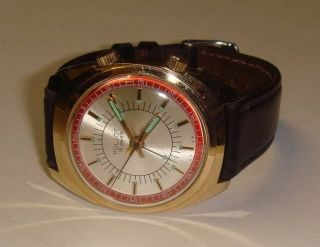 Alte Herrenuhr Armbandwecker Poljot,  1960/70er Jahre,  Handaufzug,  Altes Cal 2612 Bild