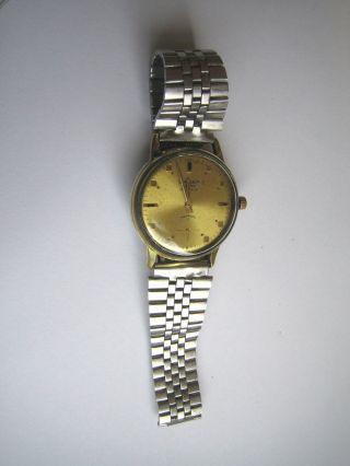 Vintage Watch Oriosa As 1130 Militäruhr Swiss Made Rotgoldwerk Bild