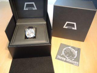 Anonimo Referenz 5004 Armbanduhr Mit Box & Papieren Und Neuem Band Bild