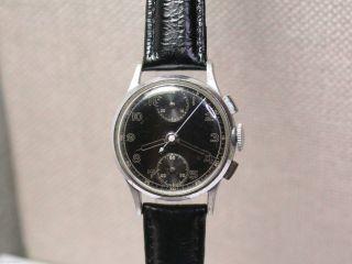 Silvana Militär Chronograph Aus Dem 2wk (ww2).  Kal.  Venus 170/ Men ' S Wrist Watch Bild
