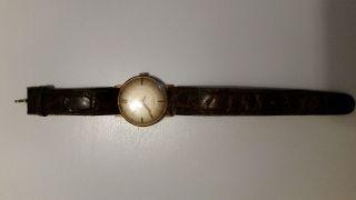 Stowa Uhr Gold 585 Incabloc 60er 70er Vintage Alte 14k Bild