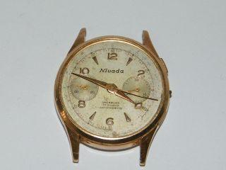 Nivada Chronograph Vintage Handaufzug,  Wrist Watch,  Repair,  Cal Landeron 248 Bild