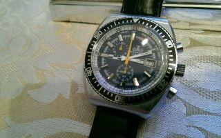 Meister Anker Chronograph/tachymeter - Uhr In Stahl - 17 Rubis - Handaufzug Bild
