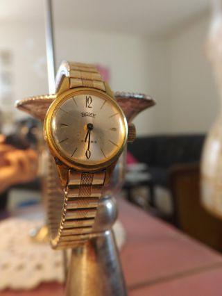 Roxy Goldplated Damen Armbanduhr 17 Rubis Real Vintage Bild