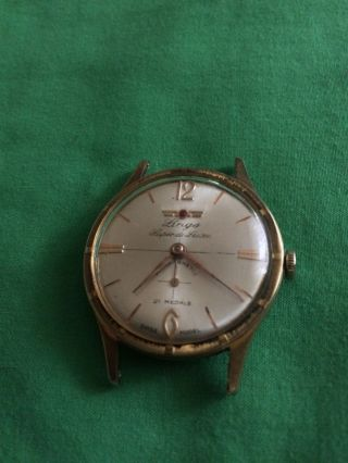 Vintage Klassische Lings De Luxe Herrenarmbanduhr Handaufzug,  Vergoldet Bild