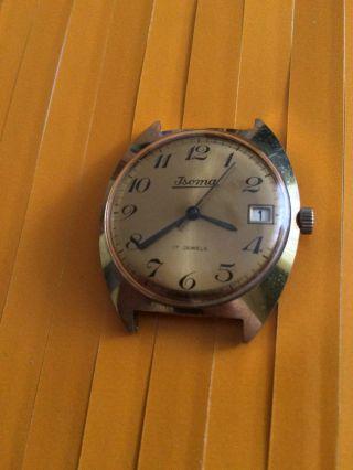 Vintage Isoma Herrenarmbanduhr Handaufzug,  Kal.  : Fb 212 (förster),  17 Jewels Bild