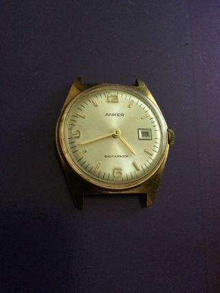Vintage Klassische Anker Herrenarmbanduhr Handaufzug,  Mit Datumsanzeige Bild