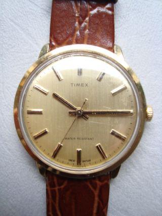 Timex Herrenarmbanduhr Klassisch Mechanisch Vintage Ca.  60er - 70er Jahre Bild