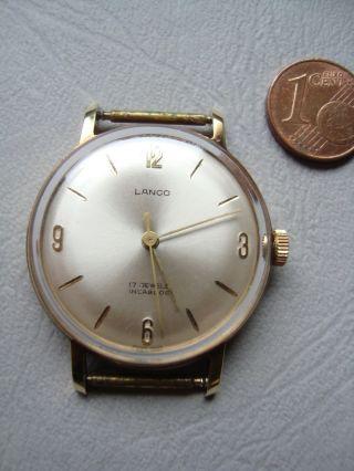 Lanco Damenarmbanduhr Mechanisch Handaufzug Goldfarben Klassisch - Elegant Ca.  60er Bild