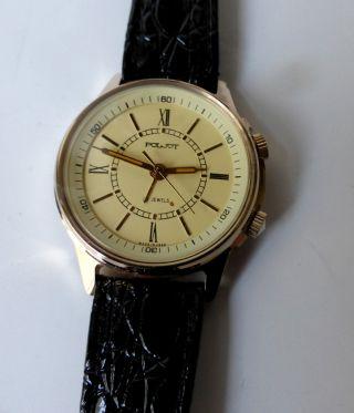 Hau Poljot Mit Wecker Schöne Poljot Uhr Mit Wecker / Alarm Handaufzug Bild