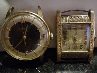 2xarmbanduhr Preziosa Autom34mm Durchmesser 25 Jewels An Bastler Selten Sammler Bild