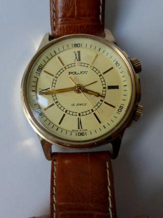 Herren Armbanduhr,  Poljot Mit Wecker Poljot Uhr Mit Wecker Handaufzug Bild