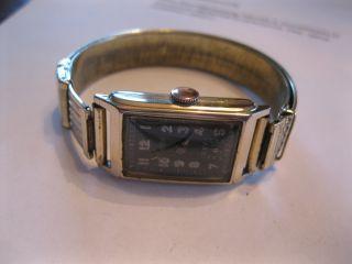 Schöne,  Alte Armbanduhr Rechteckig Zentra 40er Jahre Mech.  Werk Gold - Double 20 Mk Bild