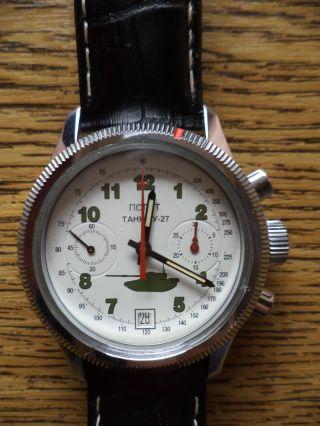 Poljot,  Mechan.  Chronograph,  P 3133,  Handaufzug,  Top Bild