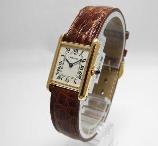 Cartier Tank Damen 18k/750 Gold Dornschliesse 18k/750 Gold Cartierbox Bild