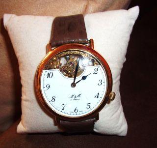 M&m Uhr Handaufzug,  Sehr Edel - Vergoldet - Peseux Werk? 17 Jewels - Swiss Made Bild