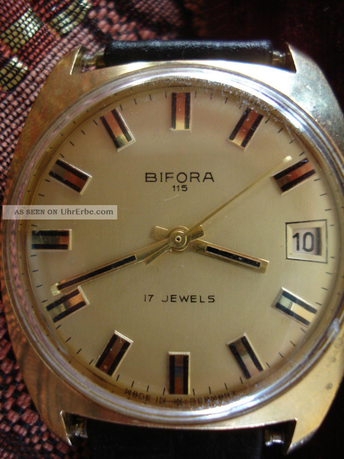 Bifora damenuhr gold 585