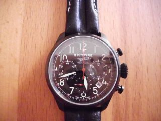 Poljot Chronograph Spitfire Supermarine Kaliber 31679 Russian Mechanical Bild