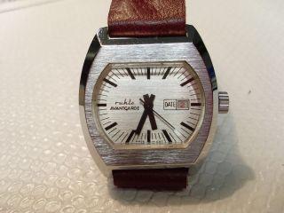 Armbanduhr Ruhla Handaufzug Lederband Bild
