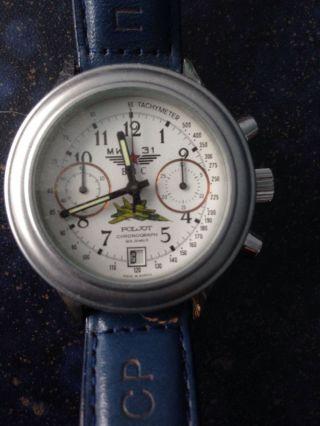 Poljot Chronograph Mig 31 3133 Handaufzug Mit Glasboden Bild