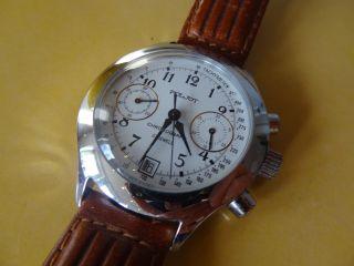 Armbanduhr / Poljot Chronograph,  Analog,  Handaufzug,  Lederarmband Bild