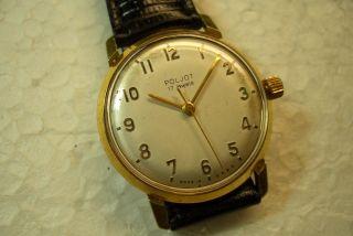 Poljot Alte Herren Armbanduhr 50 ' Er Jahre Kal.  Poljt 2409 Gt.  Gebr. Bild