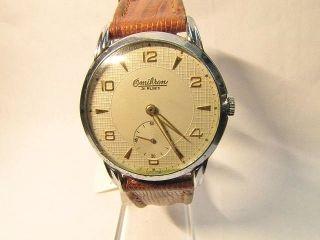 H - Armbanduhr - Omikron 21 Rubis.  Werk As 1130 Rotvergoldet. Bild