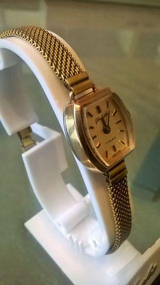 Glashütte Damen Armbanduhr 14 Karat Echtgold Klassiker Top Bild